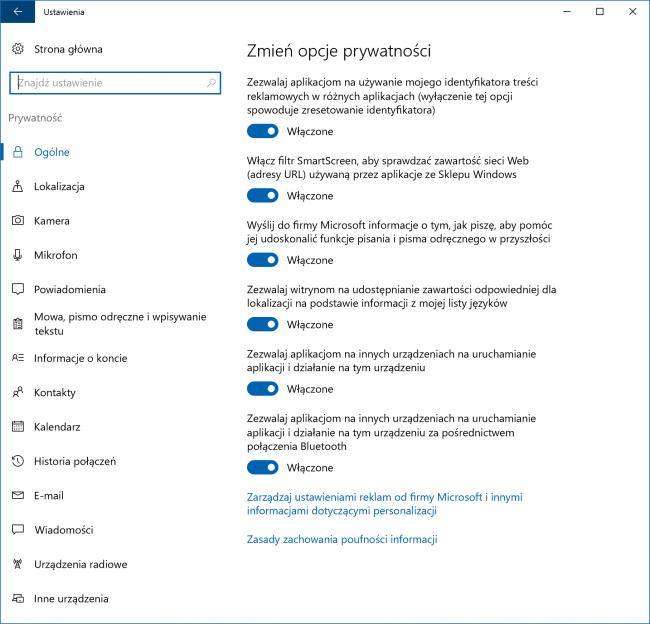 Windows 10 szpiegowanie