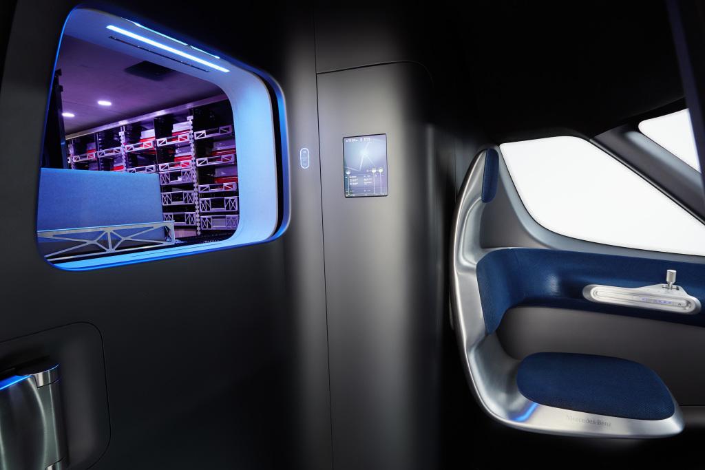 Mercedes-Benz Vision Van – Interior, Package dispenser ; Mercedes-Benz Vision Van – Interior, Package dispenser;