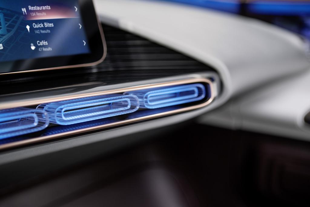 Generation EQ, Interieur, Interieur mit neuer Elektro-Ästhetik ; Generation EQ, interior, interior with new electro-look;