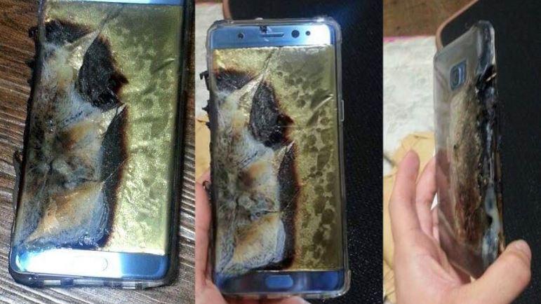 Samsung Galaxy Note 7 po wybuchu baterii