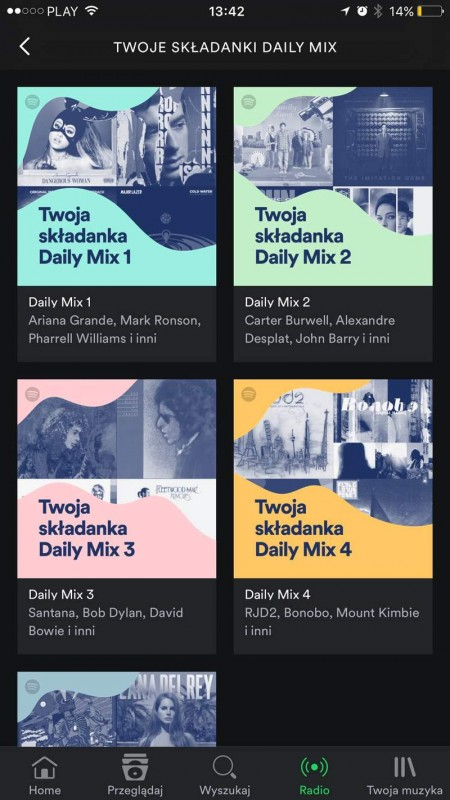 Spotify Daily Mix