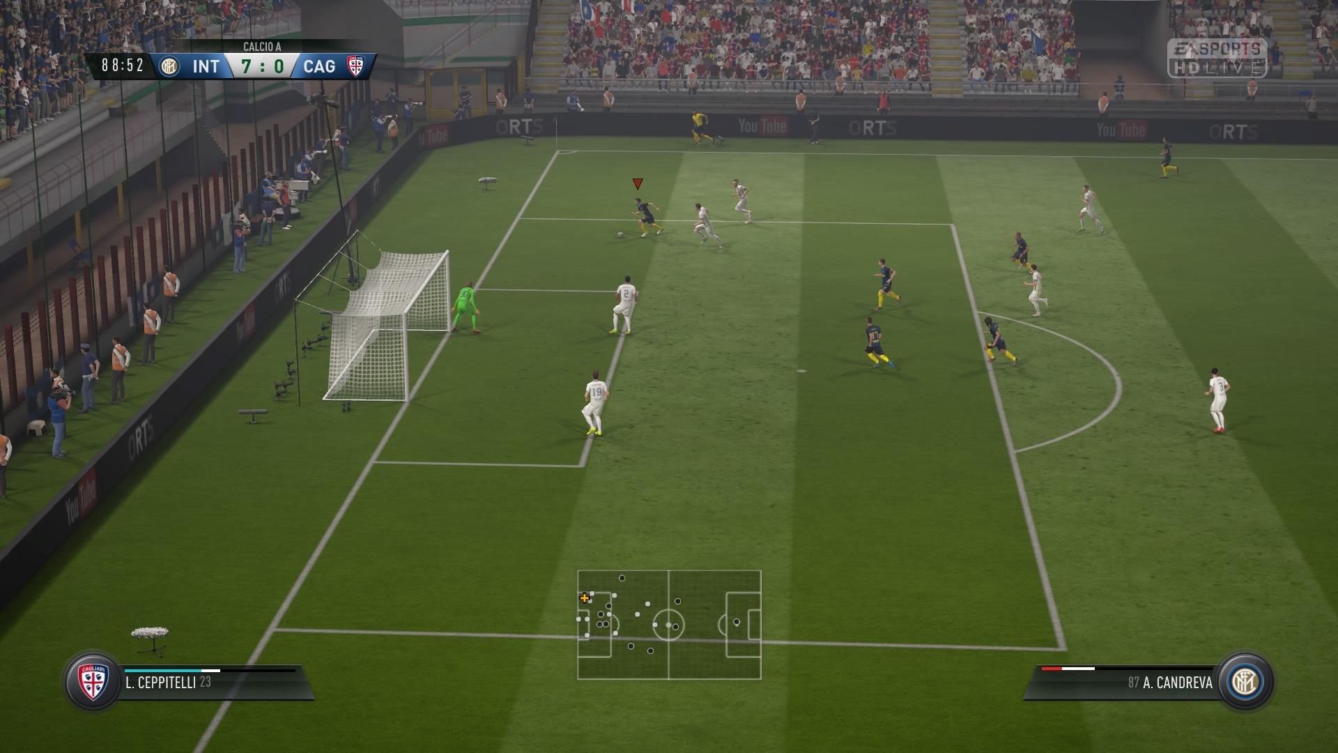 FIFA 17 Szybki mecz 7:0 INT — CAG, 2. poł.