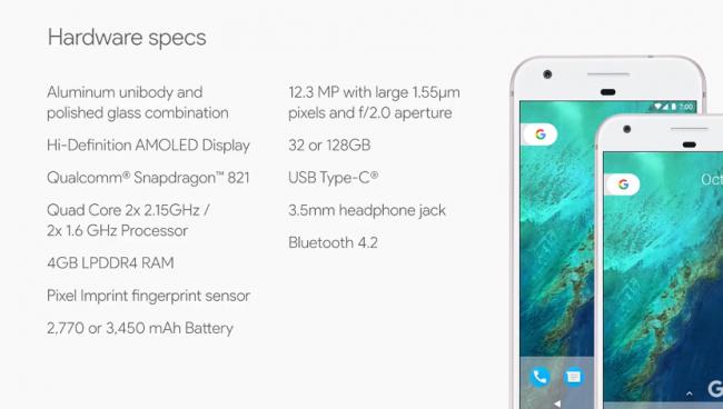 google-pixel-specyfikacja