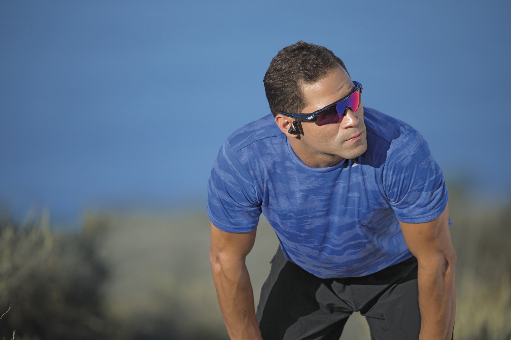 Radar Pace is smart eyewear featuring a real-time voice-activated coaching system powered by Intel® Real Speech. Radar Pace will be available in stores on Oct. 1, 2016. (Source: Oakley)
