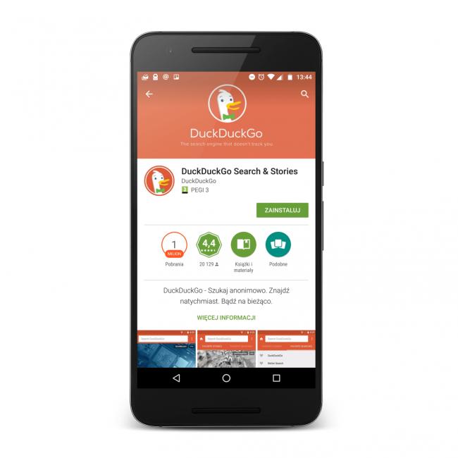 Aplikacja mobilna DuckDuckGo i wyszukiwarkę DuckDuckGo.com masz zawsze pod ręką.
