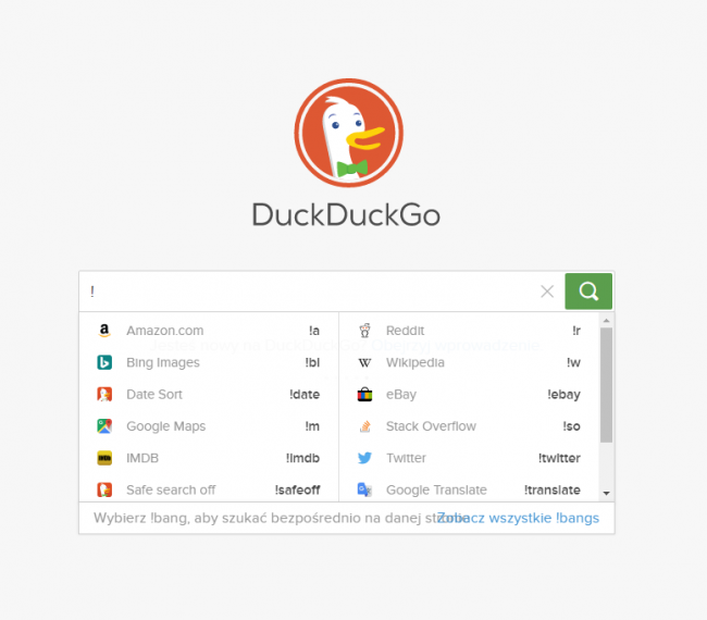 Co zamiast Google? Sprawdź wyszukiwarkę DuckDuckGo.com