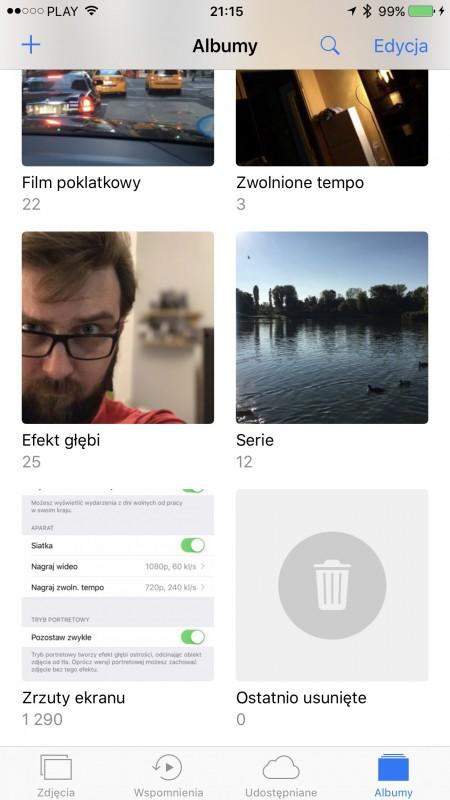 iPhone 7 Plus - portret iOS 10.1