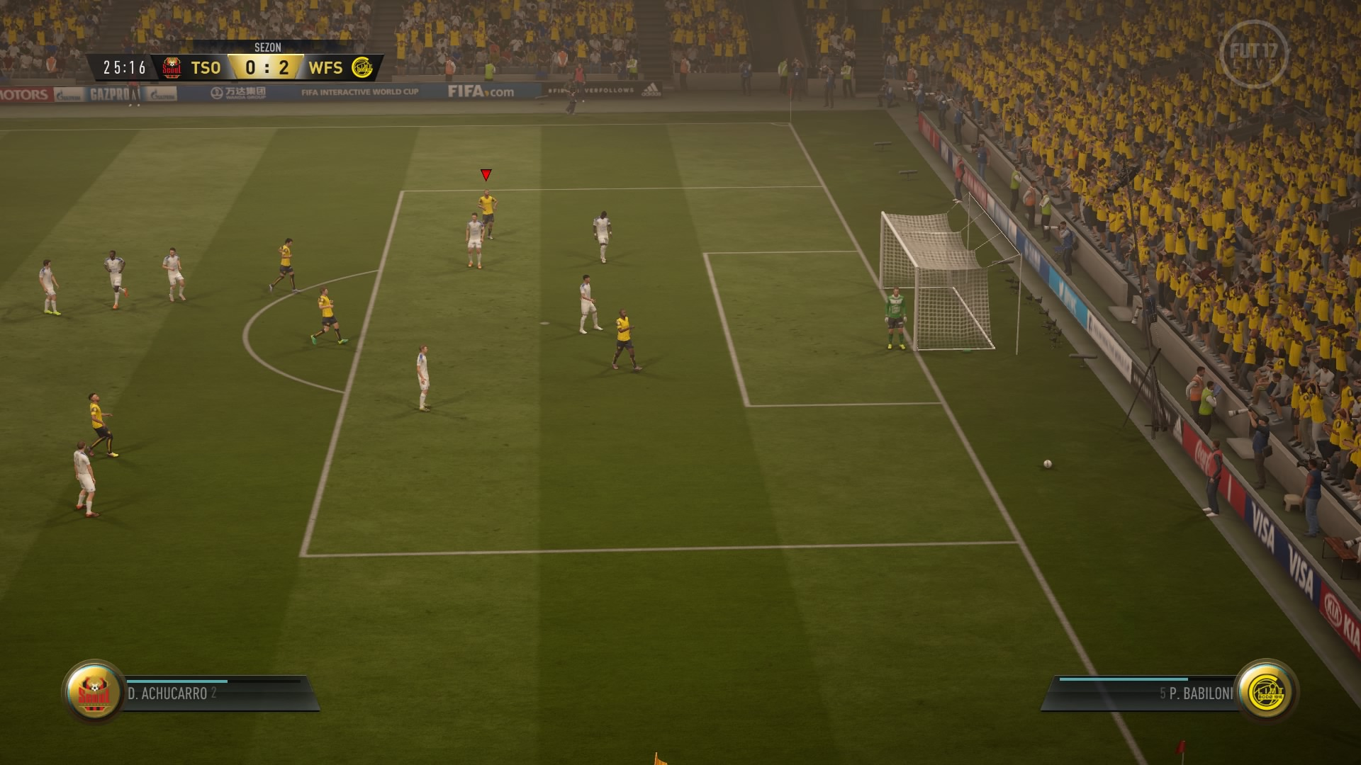 FIFA 17 Sezony FUT 0:2 FUT — FUT, 1. poł.