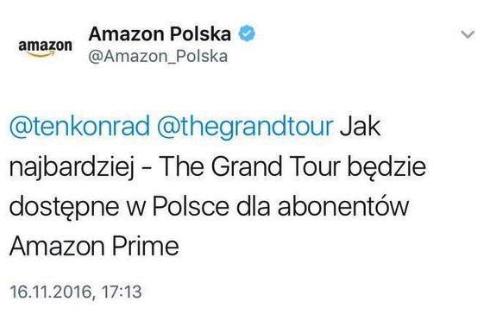Amazon Prime w Polsce - The Grand Toue