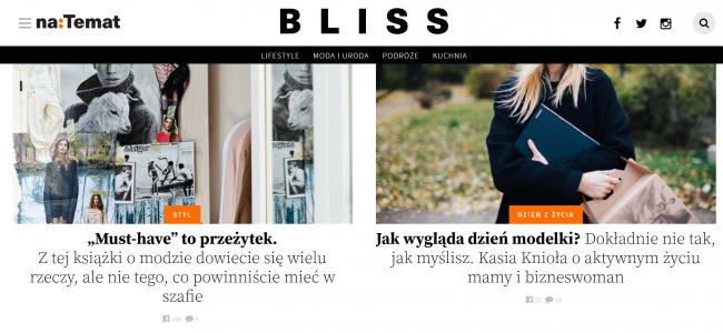 Zrzut ekranu z serwisu Bliss.
