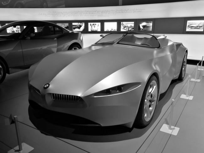 Huawei Mate 9, tryb czarno-biały w muzeum BMW w Monachium