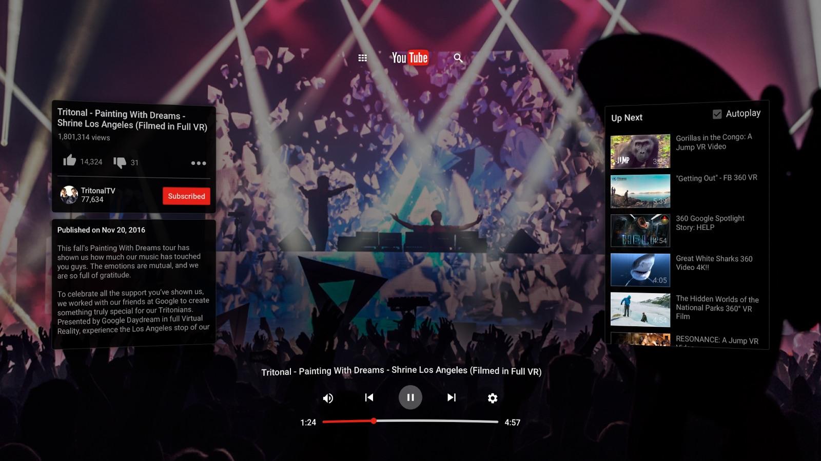 Wirtualna rzeczywistość od Google trafia na YouTube'a. Oto nowa aplikacja YouTube VR