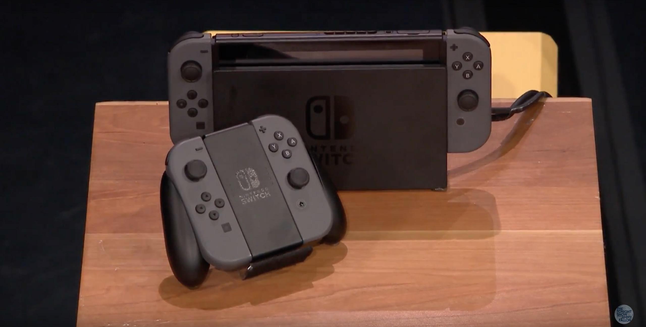 Jimmy Fallon przetestował Nintendo Switch. Ależ ten sprzęt świetnie prezentuje sięw akcji!