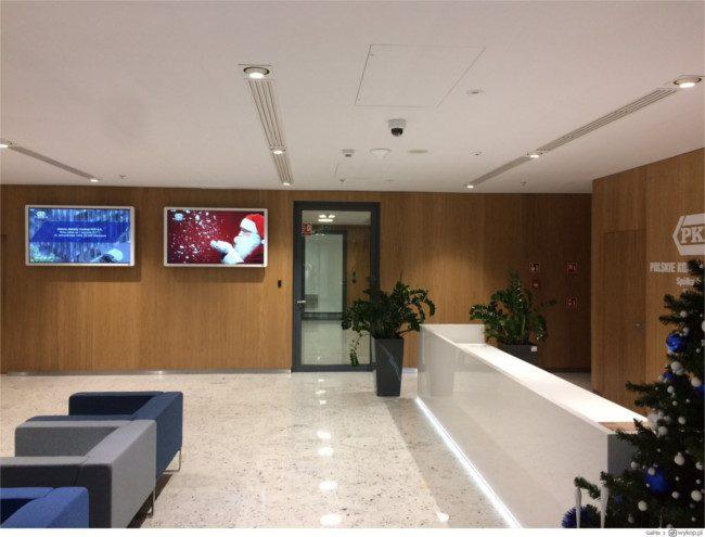 Ekrany Ricoh D6500 Interactive Whiteboard w siedzibie PKP S.A.