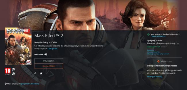 Mass Effect 2 zupełnie za darmo