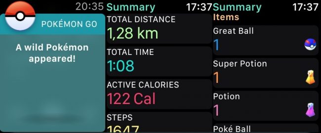 Pokemon GO na Apple Watch