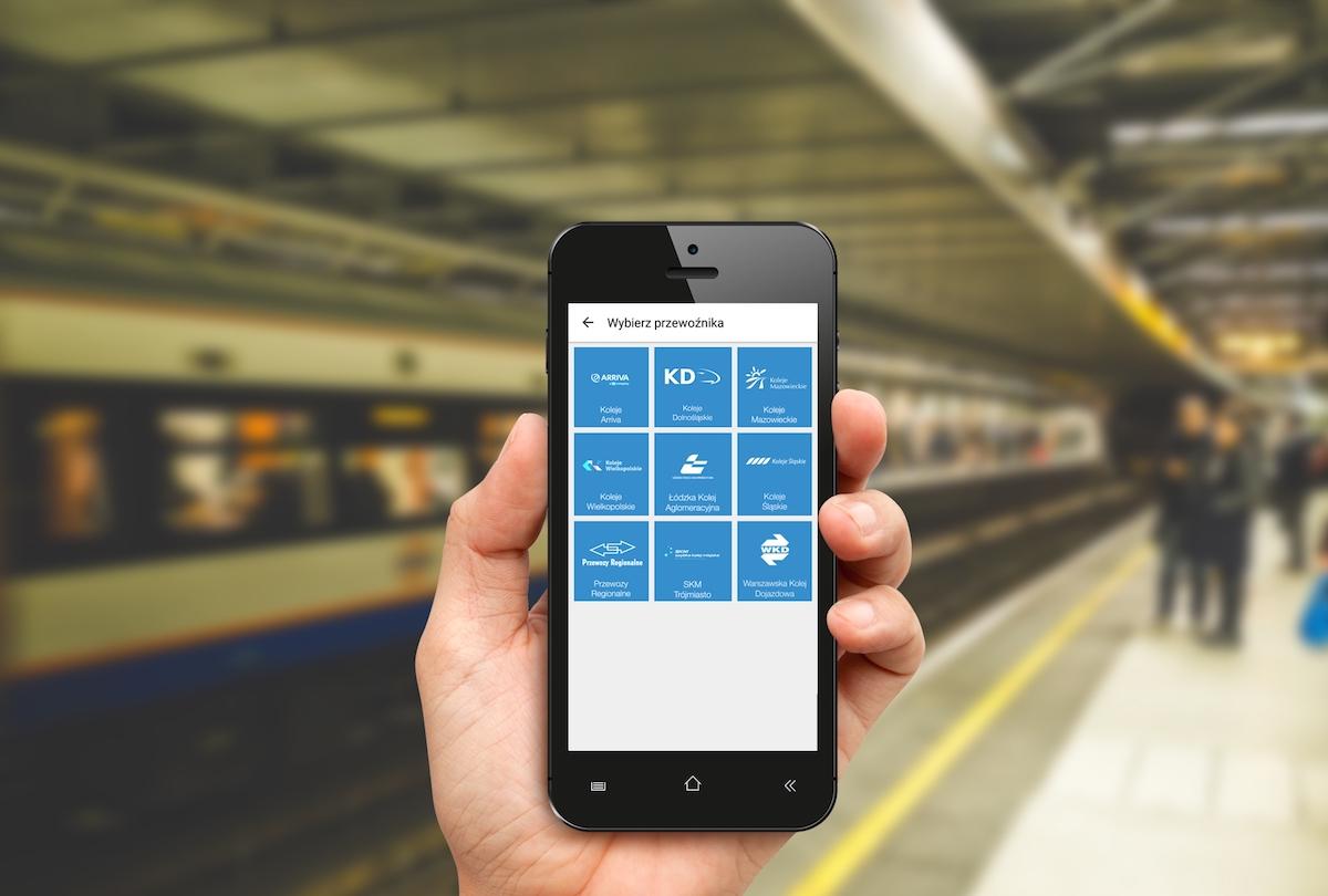 Jedna aplikacja i aż 10 różnych przewoźników, czyli sposób na bilety na pociąg w smartfonie