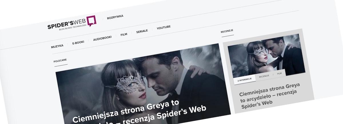 Zapraszamy na nowe Spider's Web Rozrywka!