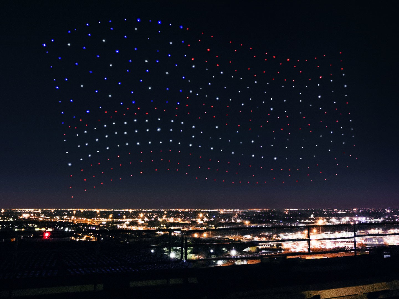 Drony Intela na Super Bowl