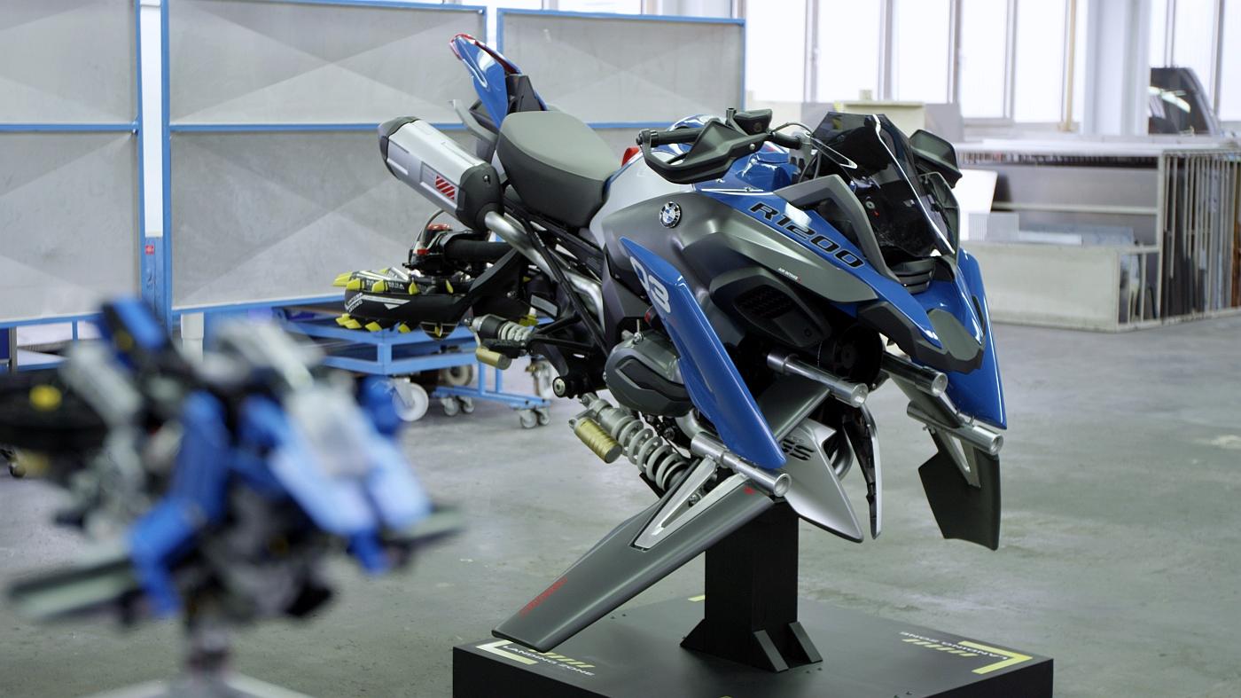 Motocykl BMW na podstawie zestawu Lego Technic