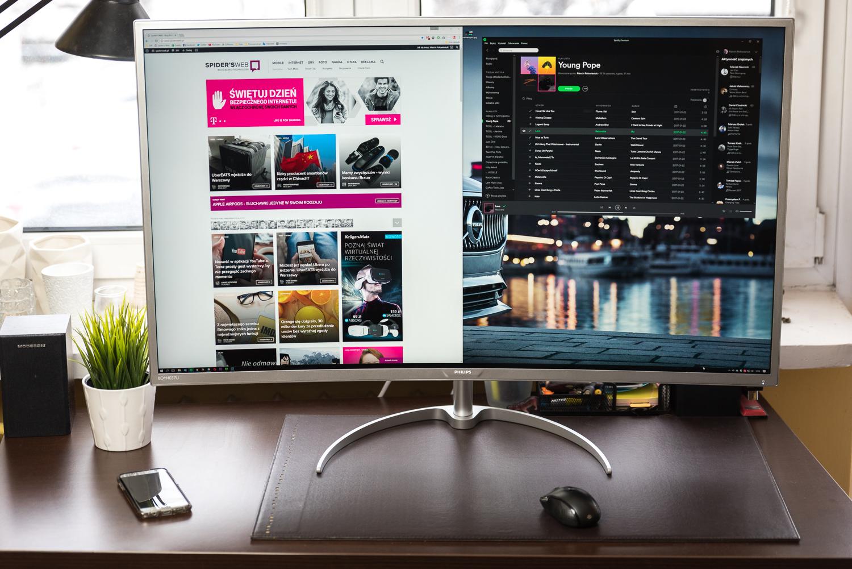 "Zakrzywiony monitor Philips 40"" 4K"