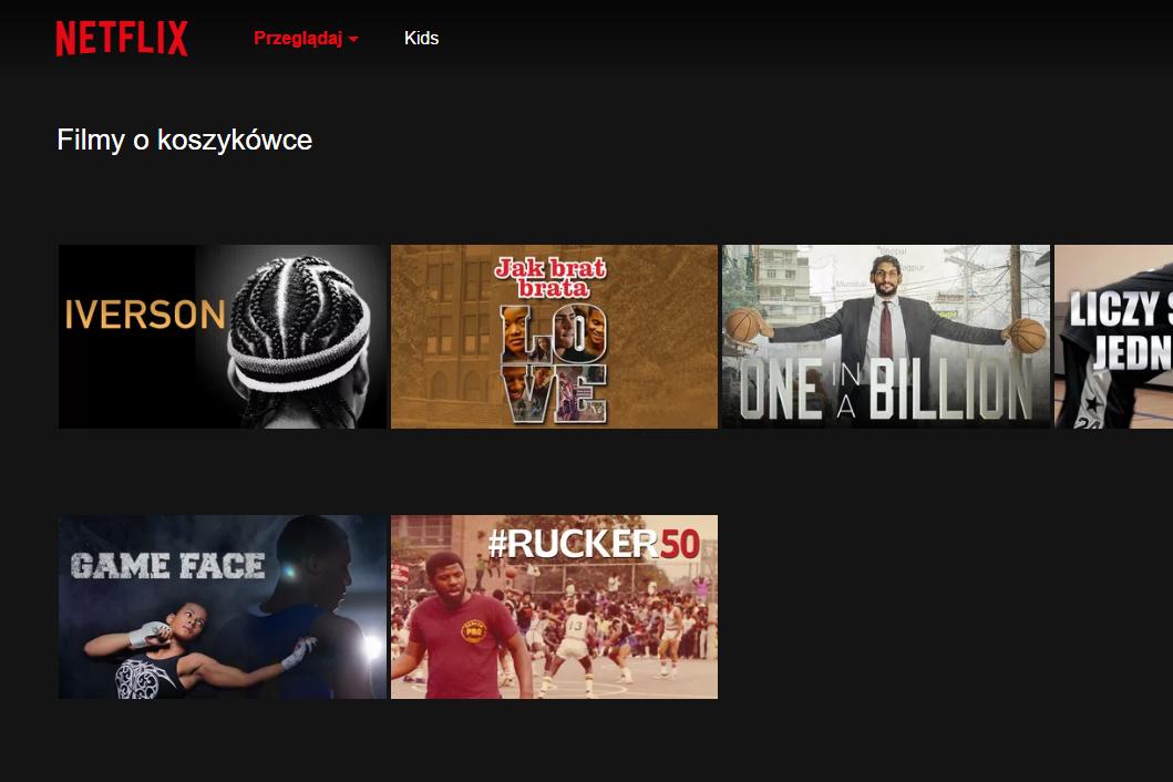 Netflix ukryte kategorie