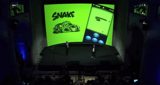 Gra Snake na Facebooku w Messengerze