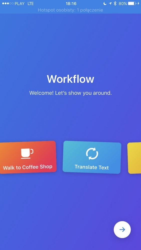 Aplikacja Workflow w rękach Apple'a