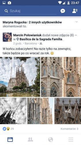 Nowy Facebook na Androida