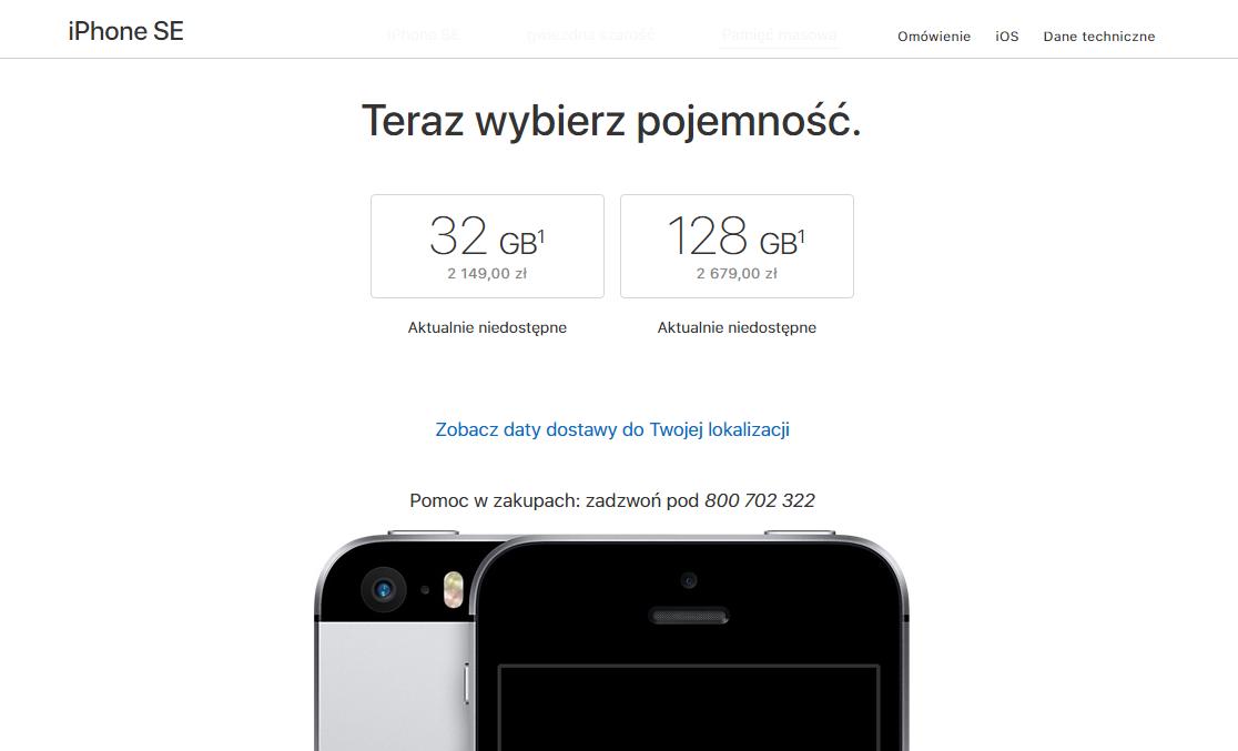 iphone-se-pojemnosc