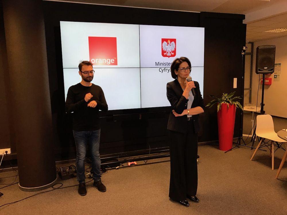 Podpisanie umowy - Orange Polska i Ministerstwo Cyfryzacji