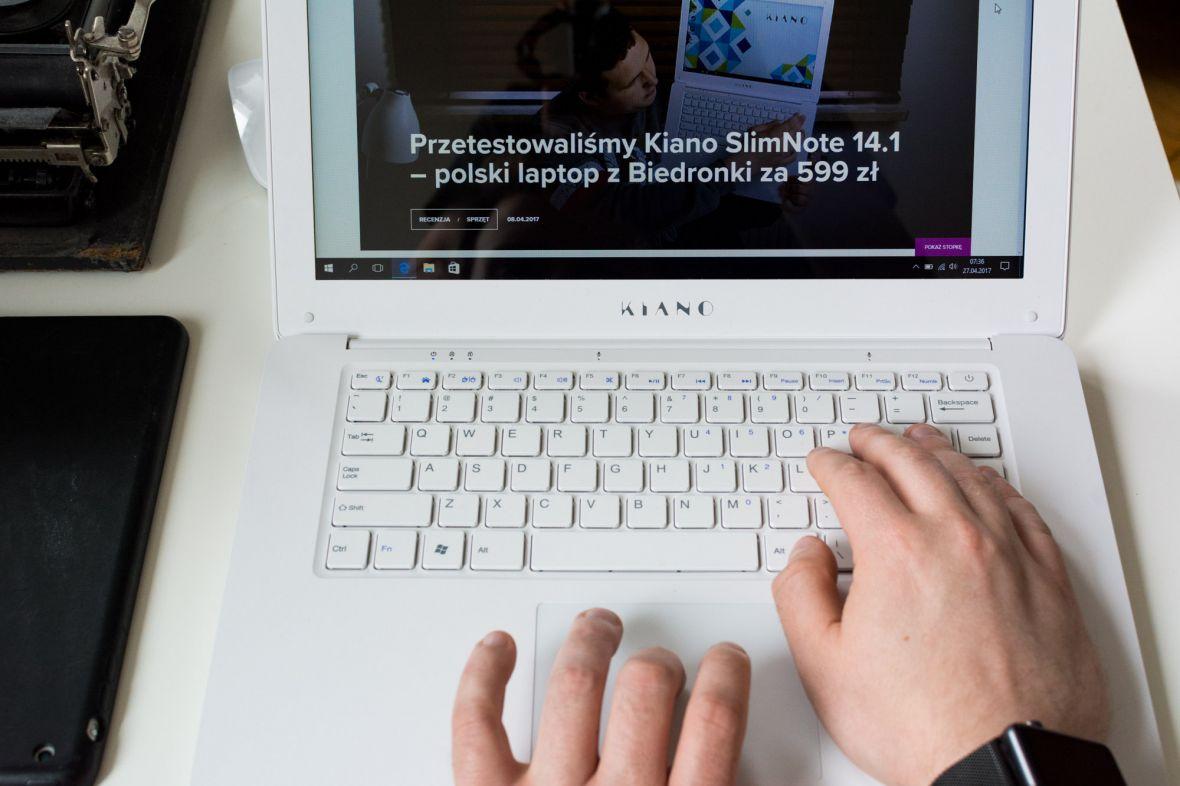 Sprawdzamy Kiano SlimNote 14.1, czyli laptop z Biedronki za 599 zł