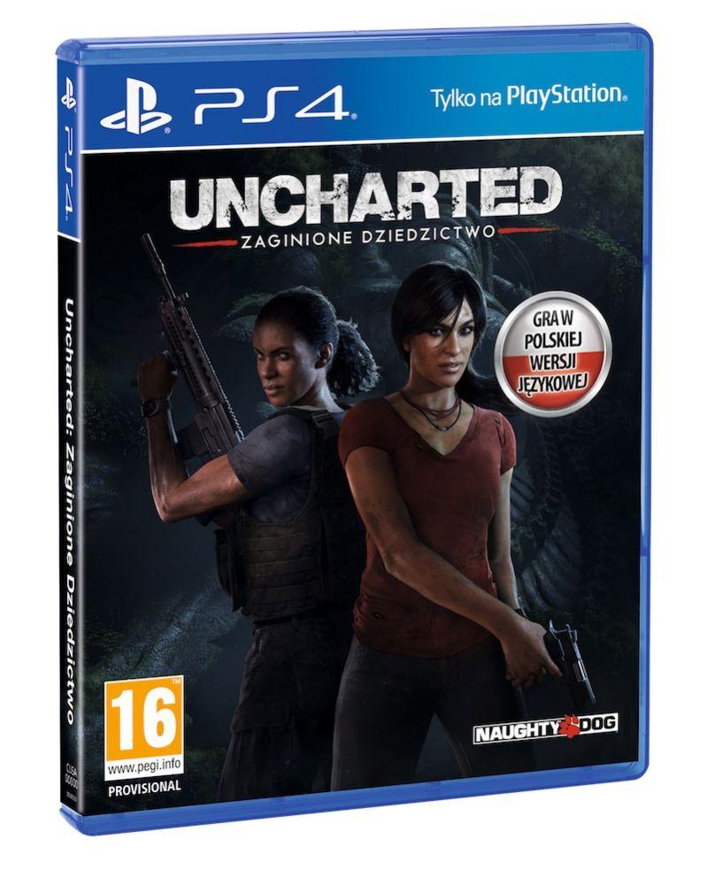 Pudełko Uncharted: Zaginione Dziedzictwo - samodzielne DLC do Uncharted 4 na PS4 PL