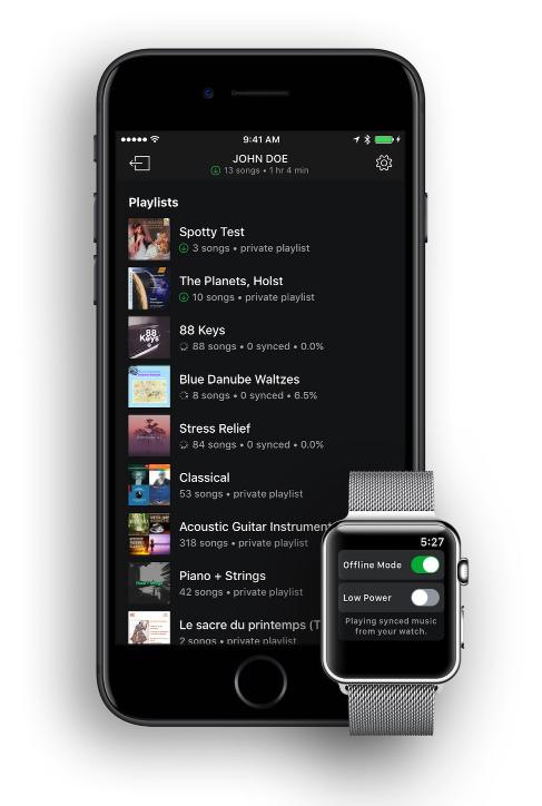 snowy - to dzięki temu powstanie aplikacja spotify na apple watch