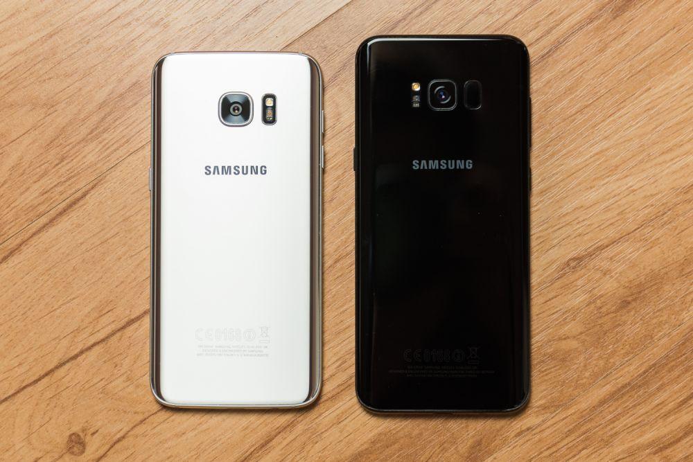 Samsung Galaxy S8 test aparatu, Samsung Galaxy S8 Plus vs Galaxy S7 edge