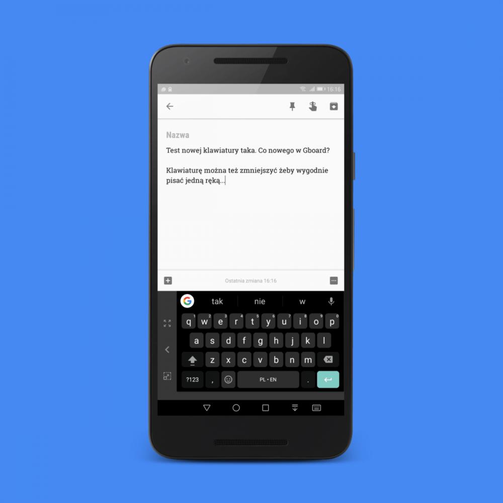 Google Gboard - aktualizacja najlepszej klawiatury na Androida