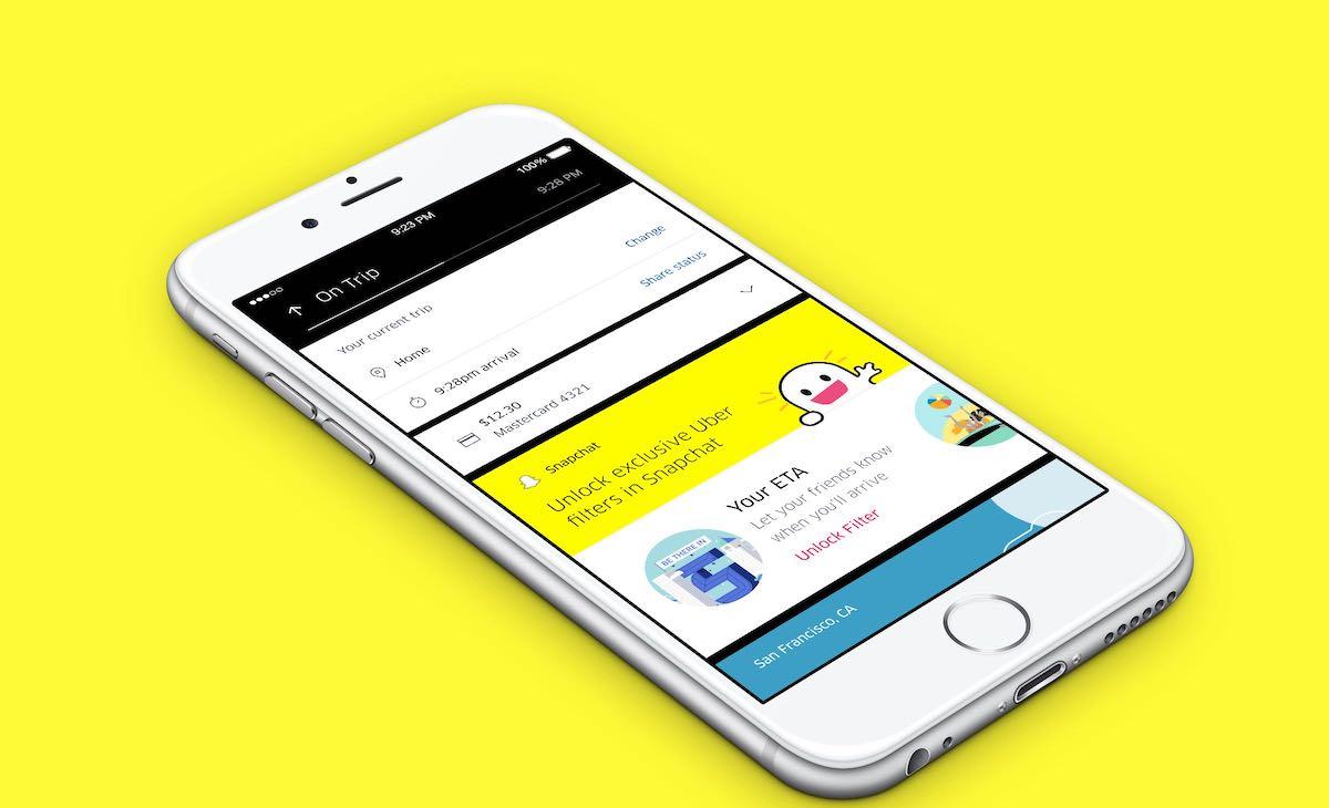 Uber Snapchat Filtry