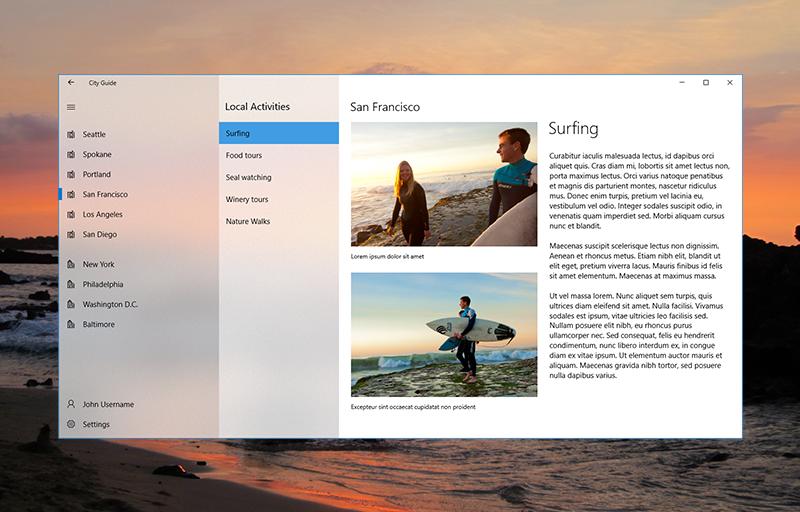 Microsoft Fluent Design Language