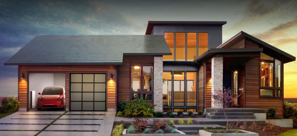 tesla solar roof cena
