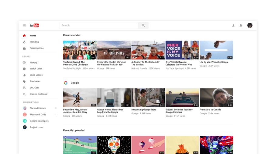 Nowy YouTube - świeży wygląd i tryb ciemny dla osób, które oglądają w nocy