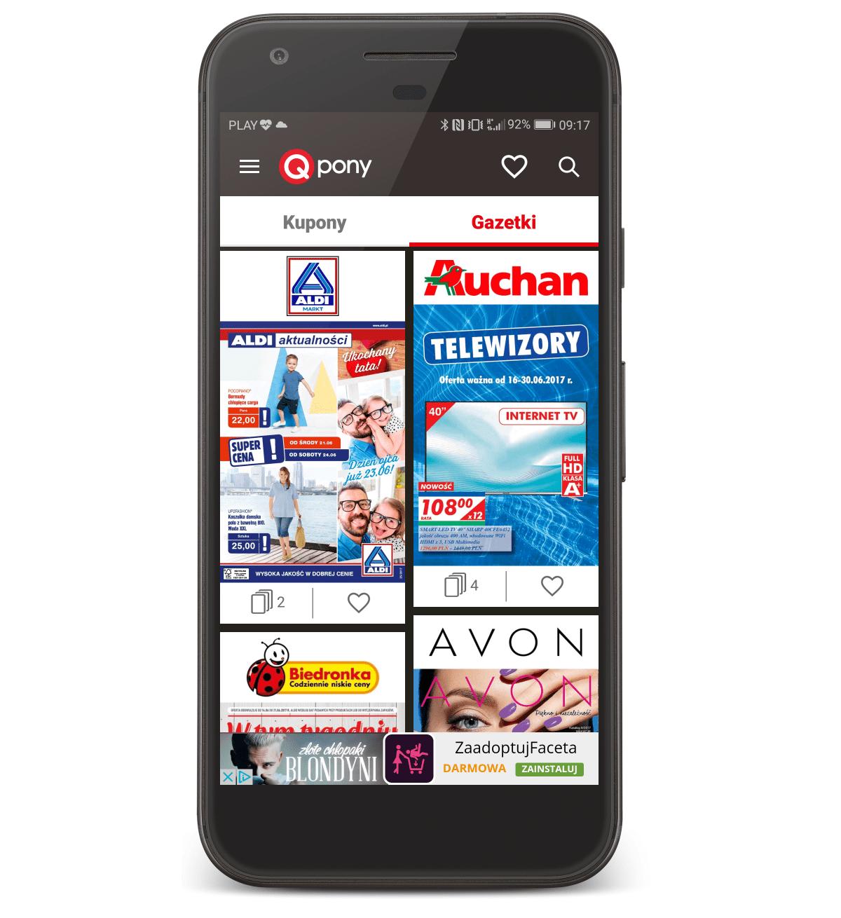 Qpony to kody rabatowe, promocje oraz gazetki do rozmaitych sklepów zamknięte w jednej aplikacji.
