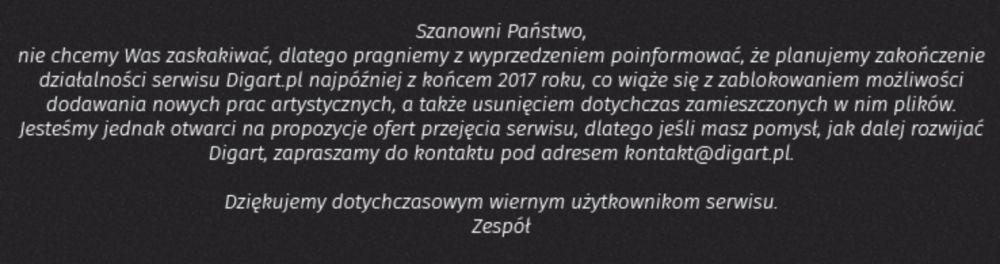 digart.pl - zamknięcie serwisu, koniec digarta