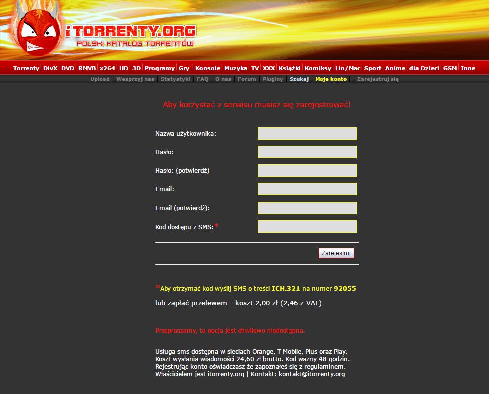 Nie, Torrenty.org nie wróciły. To tylko oszuści, którzy wyłudzają pieniądze