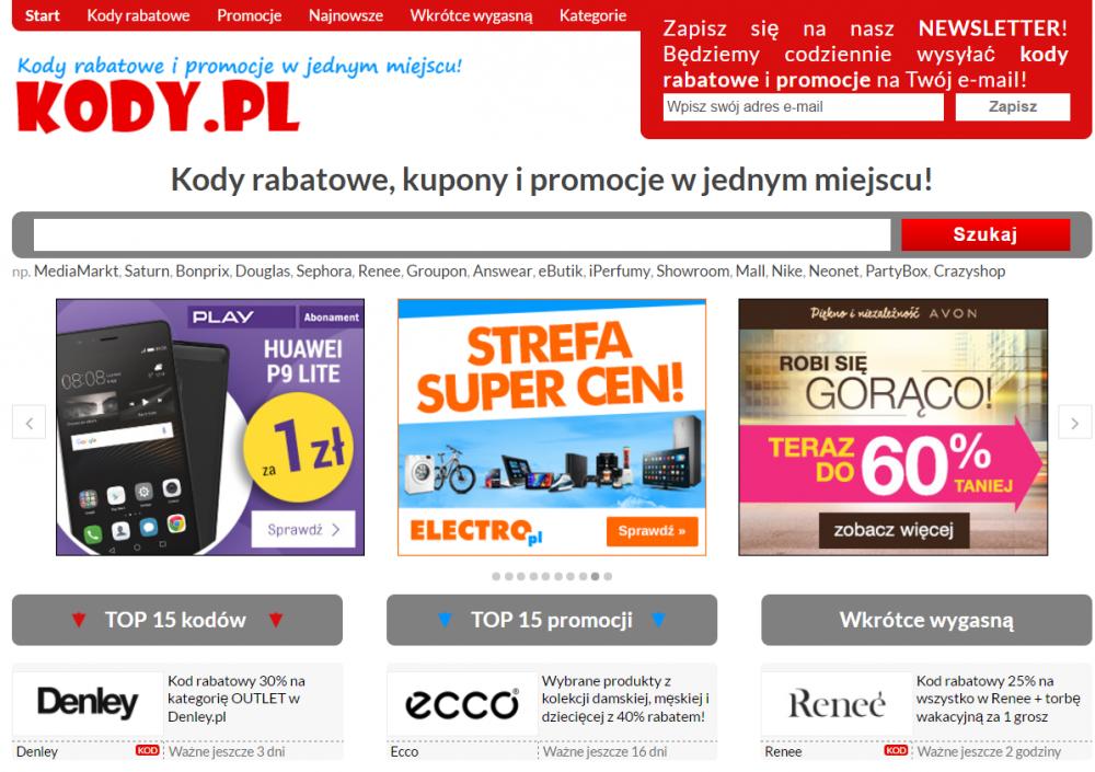 Kody.pl to miejsce, gdzie znajdziesz kody rabatowe, promocje oraz okazje, które mają niebawem wygasnąć.