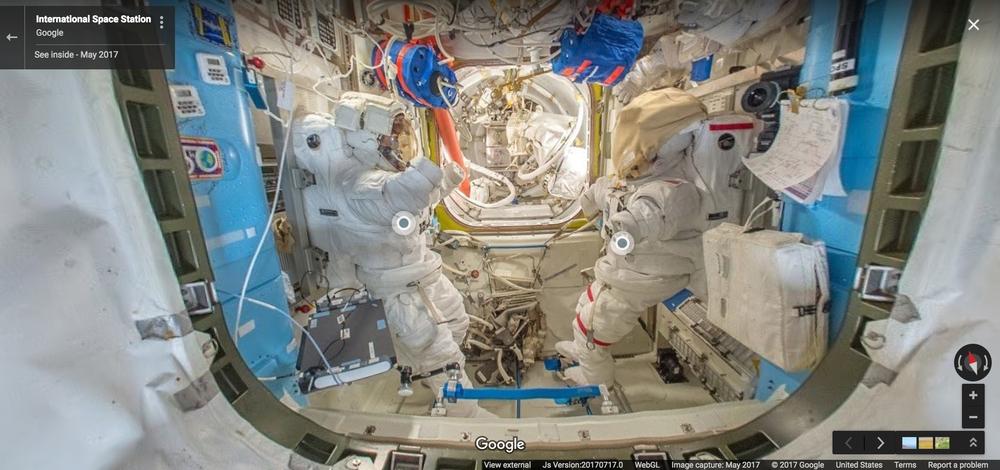 Miedzynarodowa Stacja Kosmiczna w Google Street View