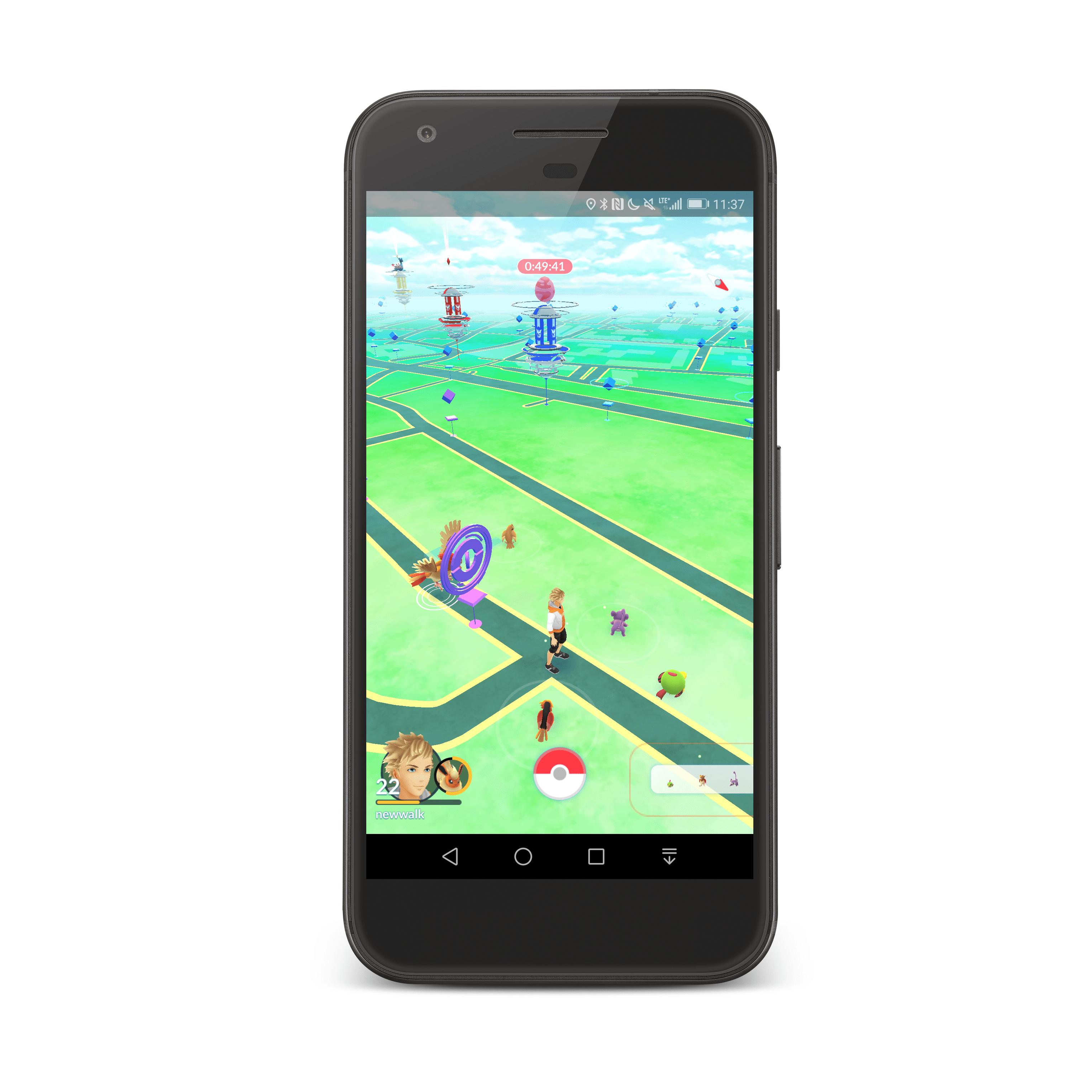 Całkiem spora gromadka Pokemonów w jednym miejscu.