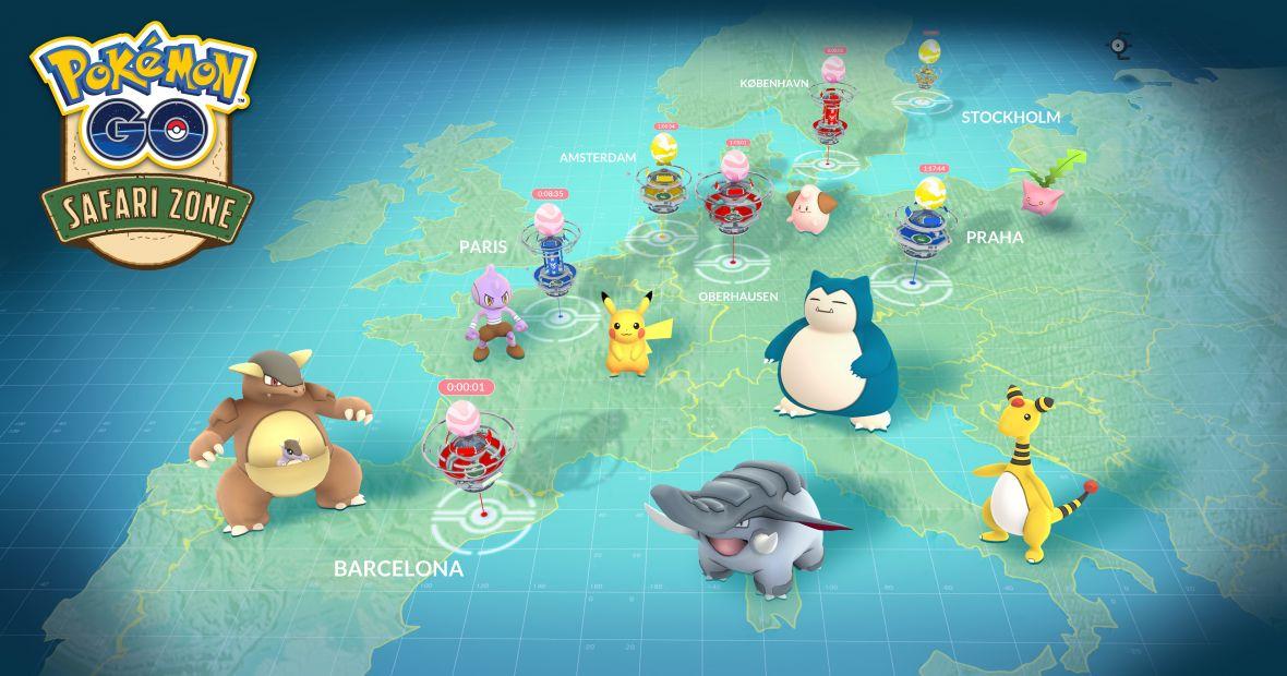 Safari Zone w Europie i szansa na legendarne pokemony w Pokemon GO
