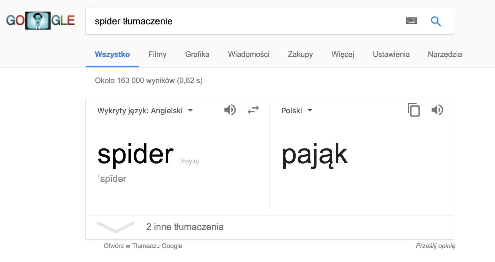 Tłumacz google, google translate