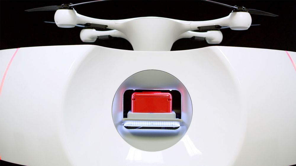 Autonomiczne drony krew szwajcarskie szpitale