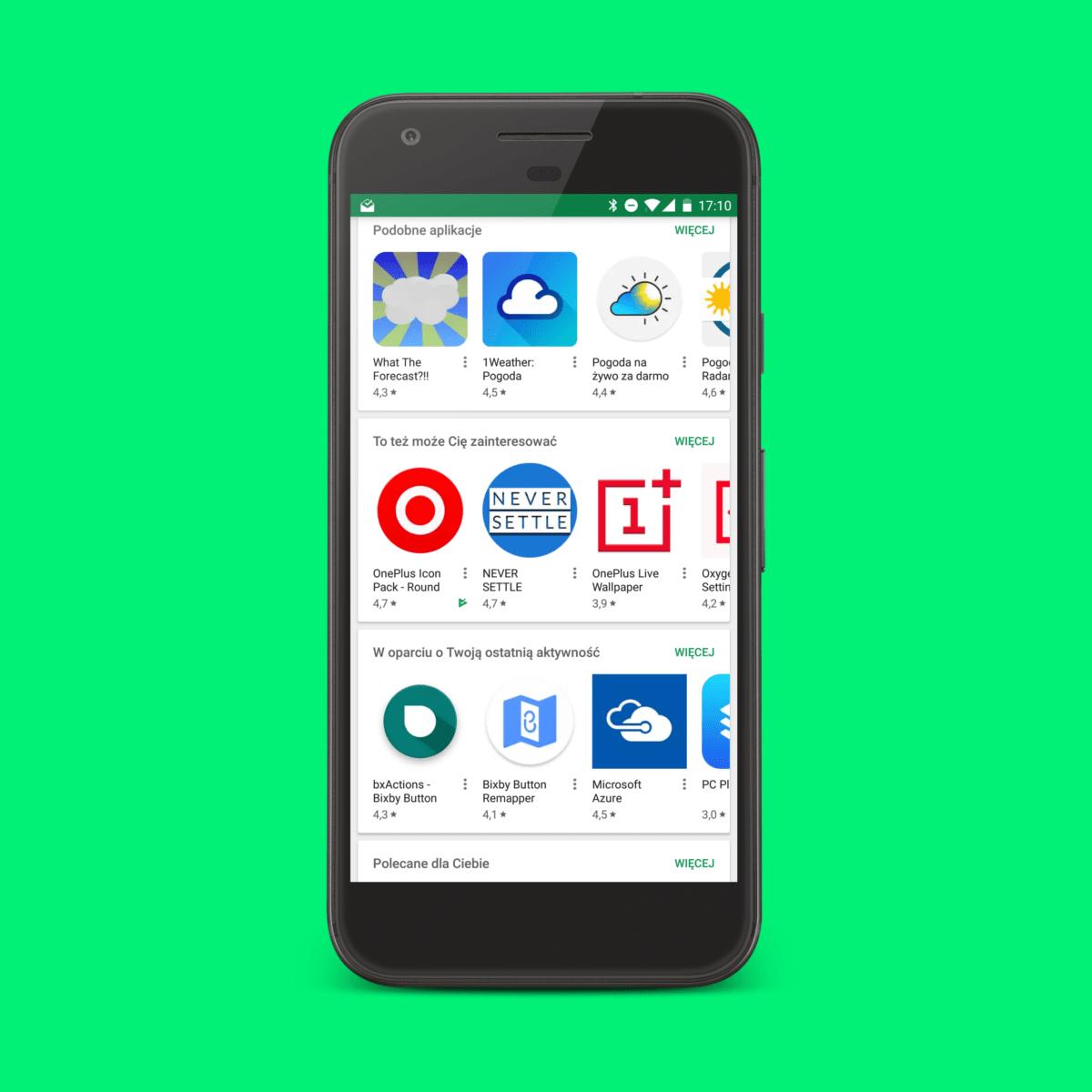 Sklep Google Play - oceny aplikacji